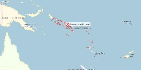 Мощное землетрясение 8 декабря у берегов Соломоновых островов