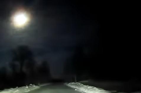 В небе над Архангельской областью России взорвался небольшой метеорит