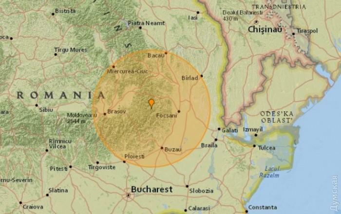 Сильное землетрясение в зоне Вранча ощутили жители Украины