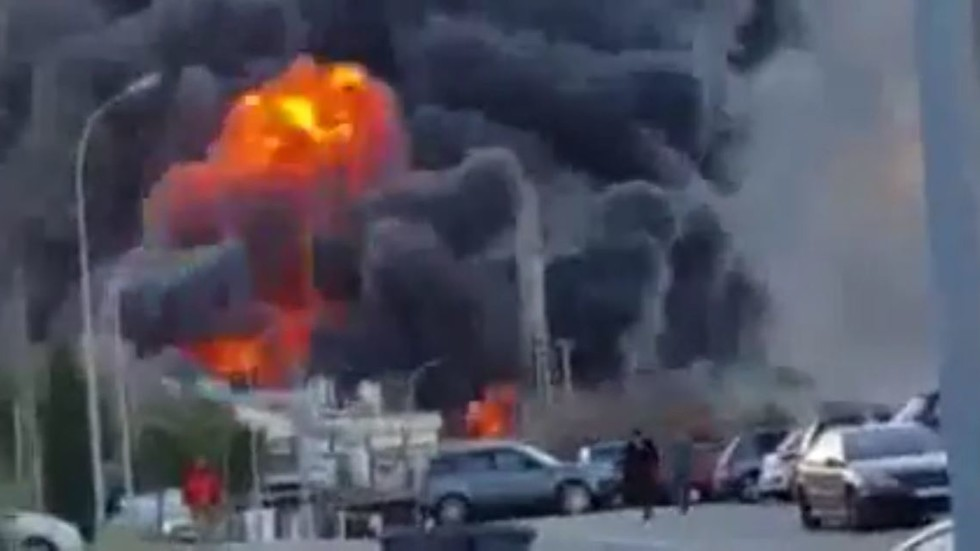 Мощный взрыв на французской АЭС (ВИДЕО)