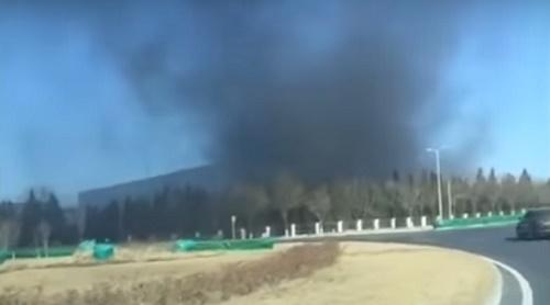 В Китае горели производственные помещения Samsung